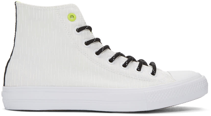 Converse White Reflective Chuck Taylor All Star Ii High-top Sneakers