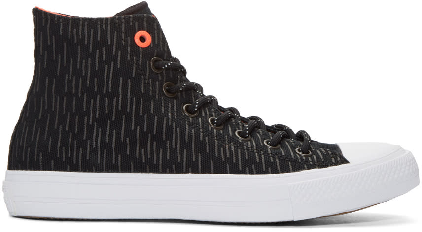Converse Black Reflective Chuck Taylor All Star Ii High-top Sneakers