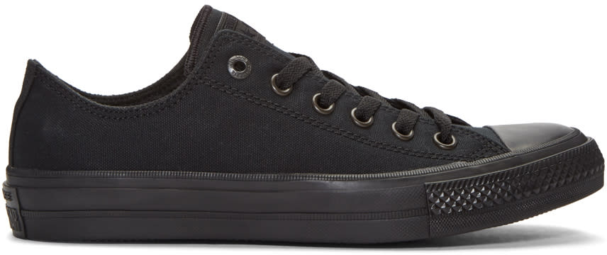 Image of Converse Black Chuck Taylor All Star Ii Ox Sneakers