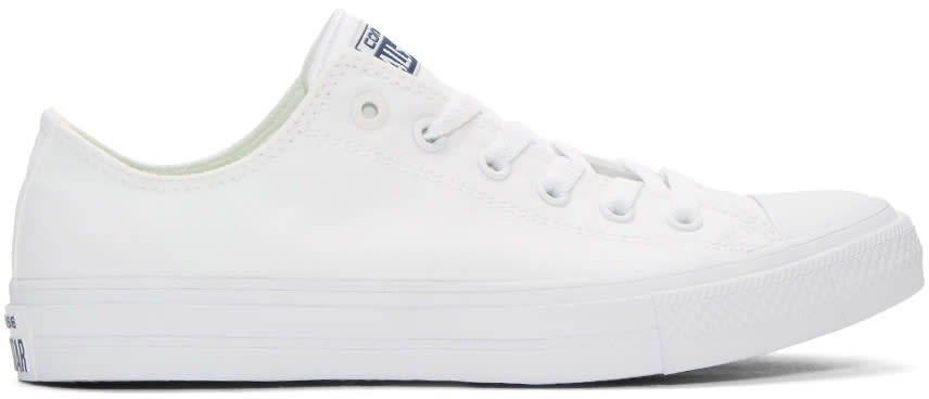 Converse White Chuck Taylor All Star Ii Ox Sneakers