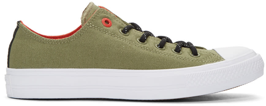 Converse Green Chuck Taylor All Star Ii Ox Sneakers