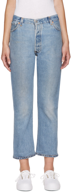 Re-done Blue No Destruction Jeans