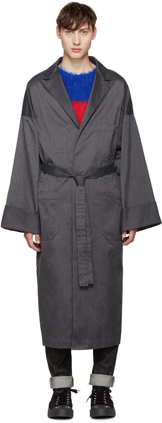 Ganryu Grey Oversized Coat