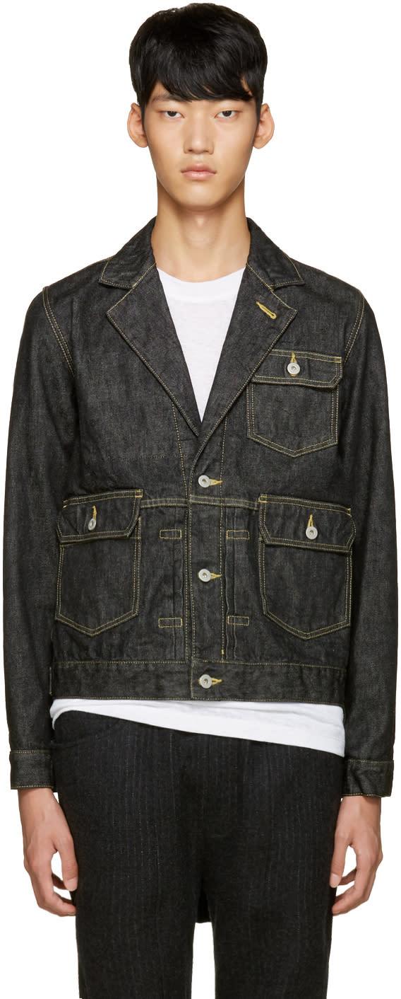 Ganryu Black Denim Jacket