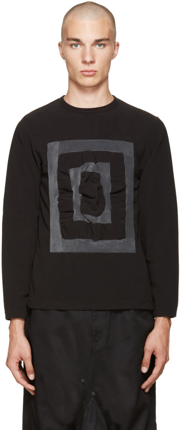 Ganryu Black and Grey 3-d Pullover