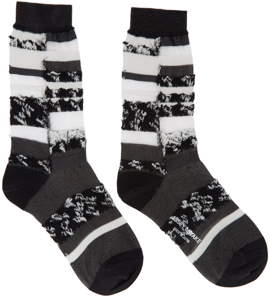 Issey Miyake Black Cosmos Socks