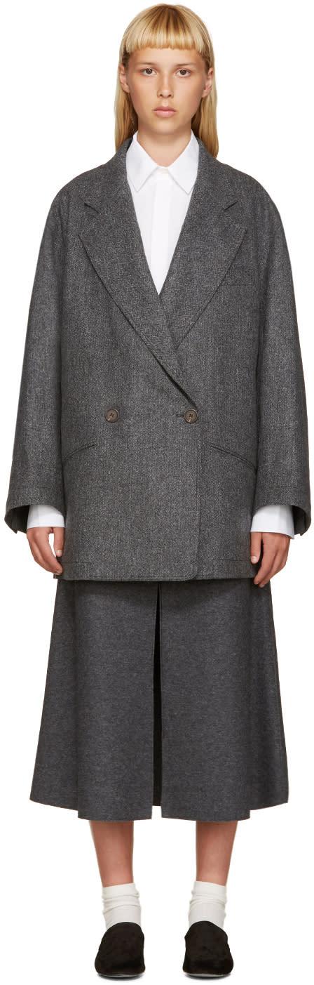 Nehera Grey Wool Jobo Coat