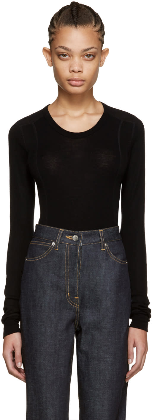 Cyclas Black Rib Knit Pullover
