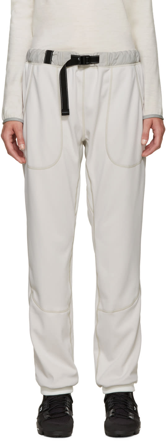 And Wander Off-white Belted Lounge Pants