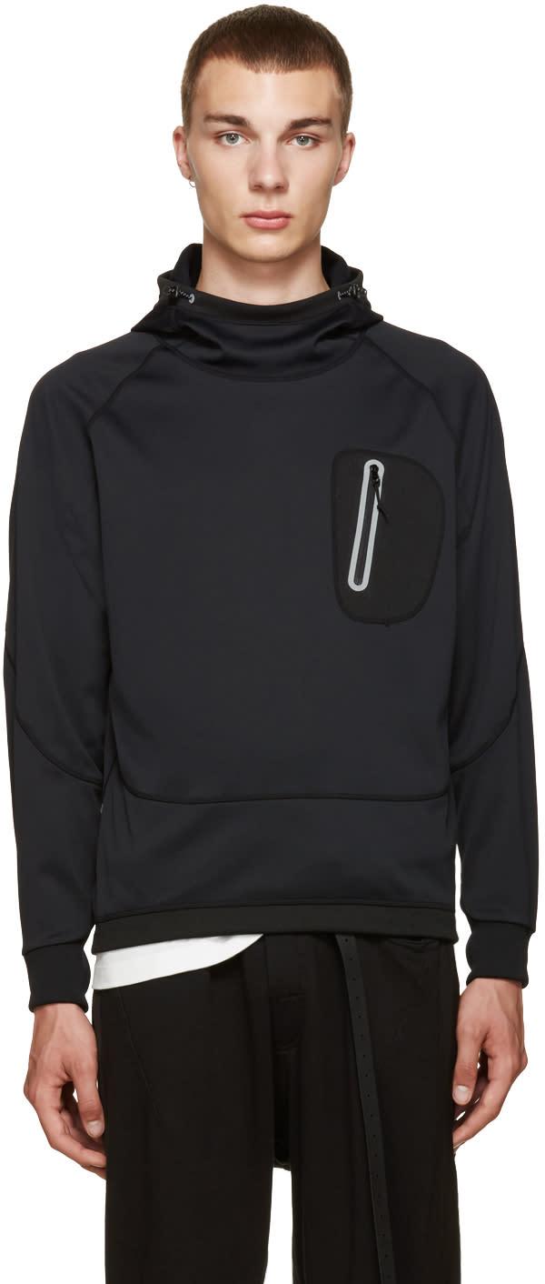 And Wander Black Zip Pocket Hoodie