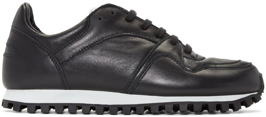 Spalwart Black Nappa Marathon Sneakers