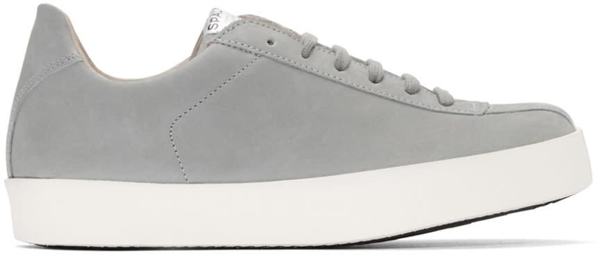 Spalwart Grey Nubuck Court Sneakers