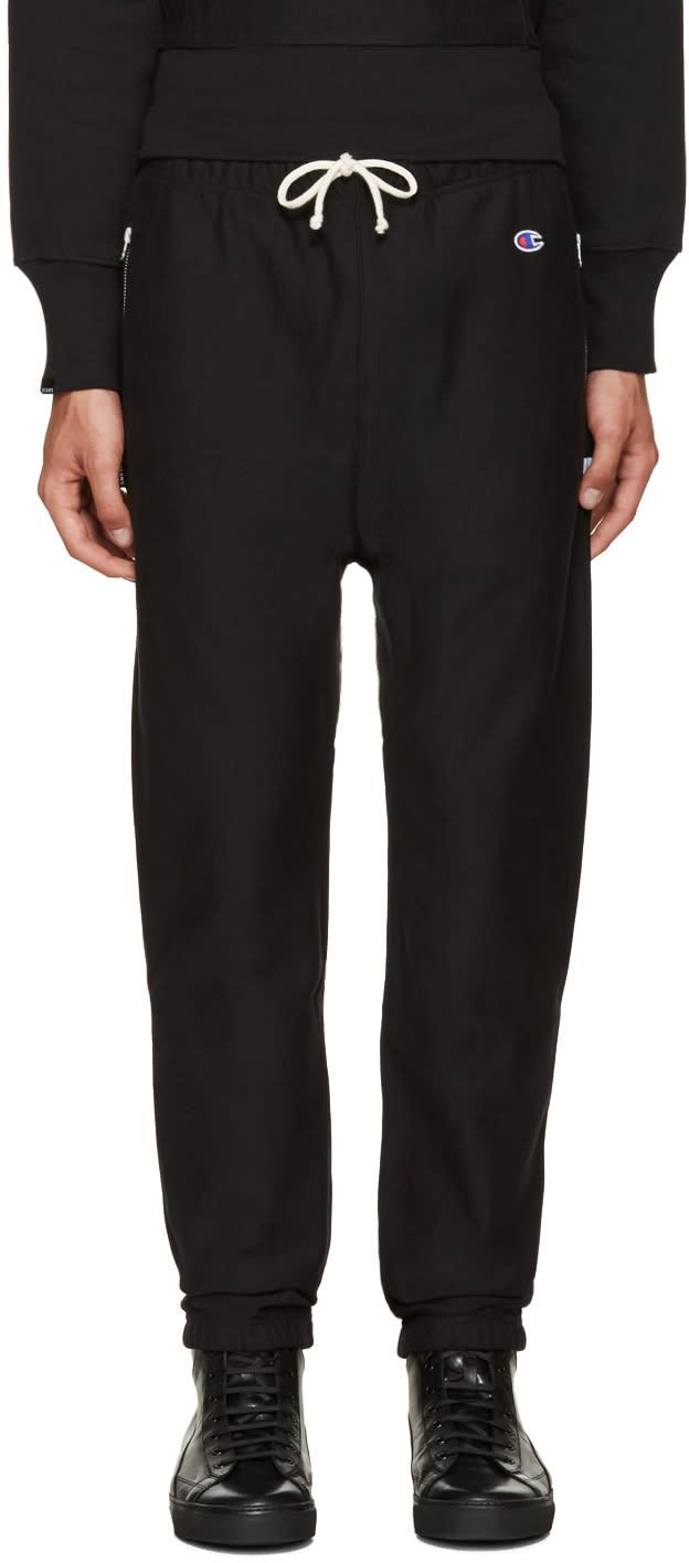 Champion X Beams Black Reverse Weave Lounge Pants