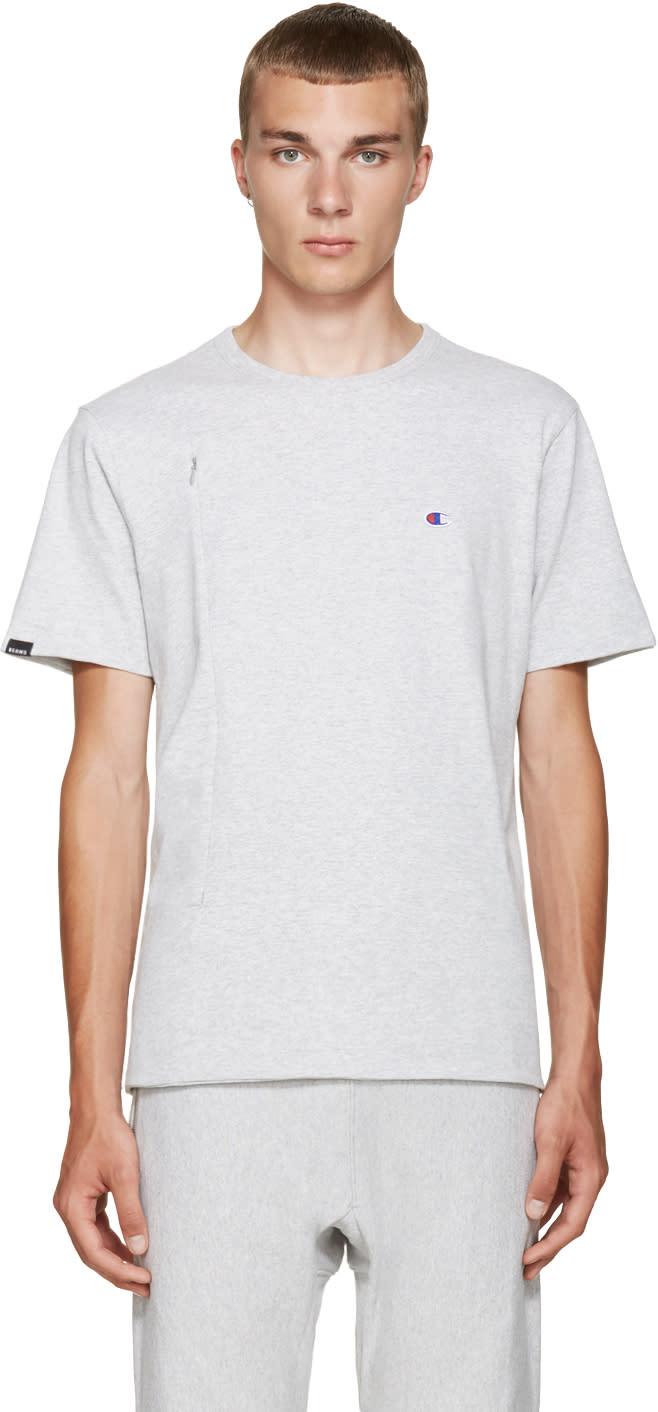 Champion X Beams Grey Jersey Zip T-shirt