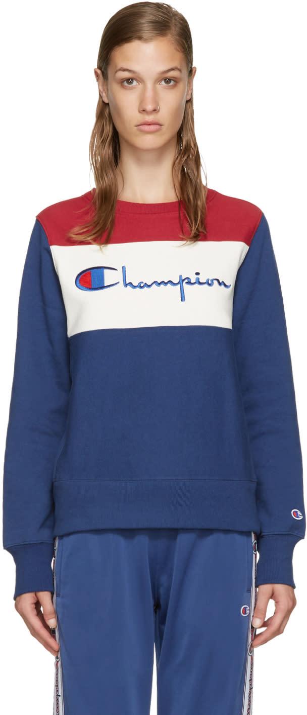 Champion Reverse Weave Tricolor Logo Pullover