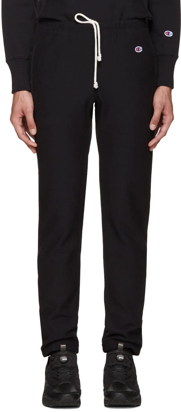 Champion Reverse Weave Black Reverse Weave Terry Lounge Pants