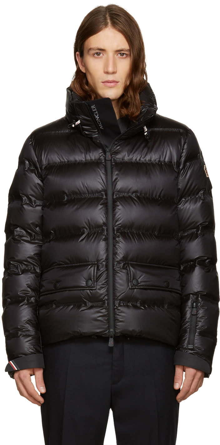 Moncler Grenoble Black Down Buisses Jacket
