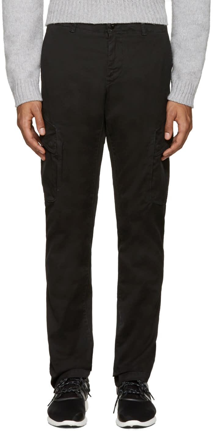 Genuine Side Pocket Badge Black Stone Island Jogging Pants