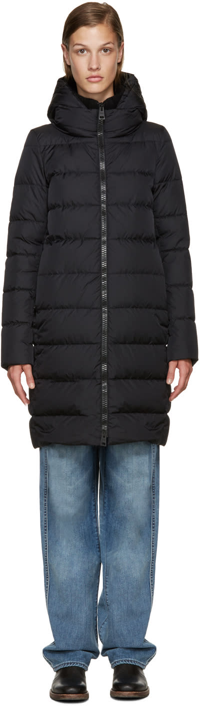 Herno Black Polar Tech Down Jacket
