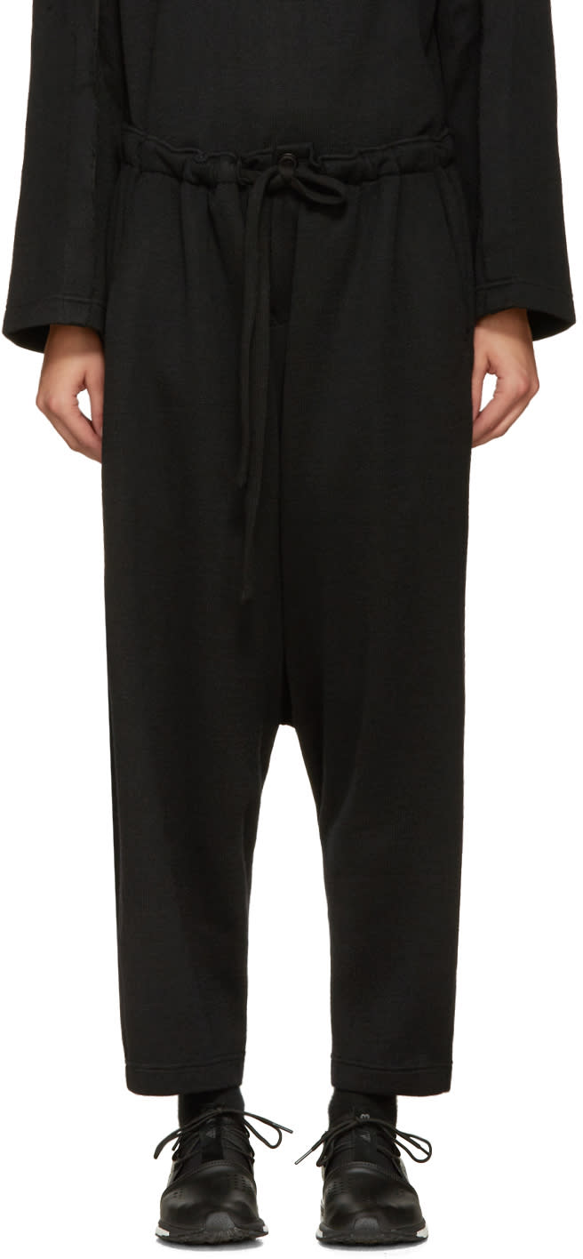 Nocturne 22 Black Wool Lounge Pants