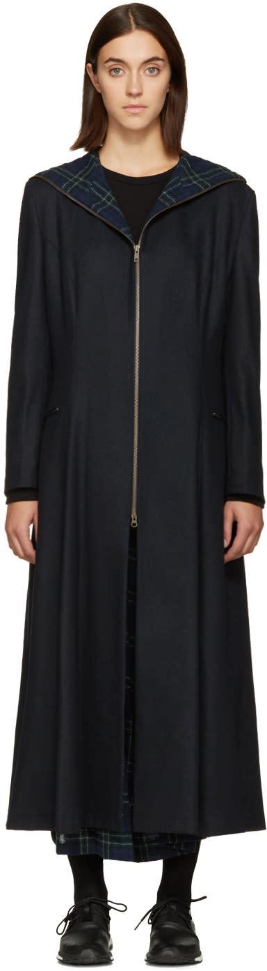 Nocturne 22 Navy Wool Coat