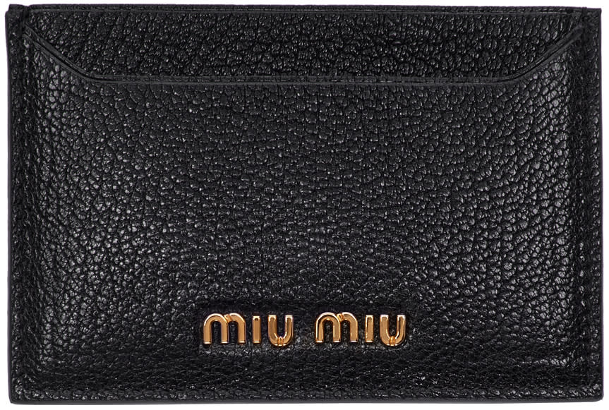 Miu Miu Black Logo Card Holder