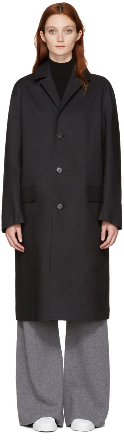 Mackintosh Black Bal Collar Coat