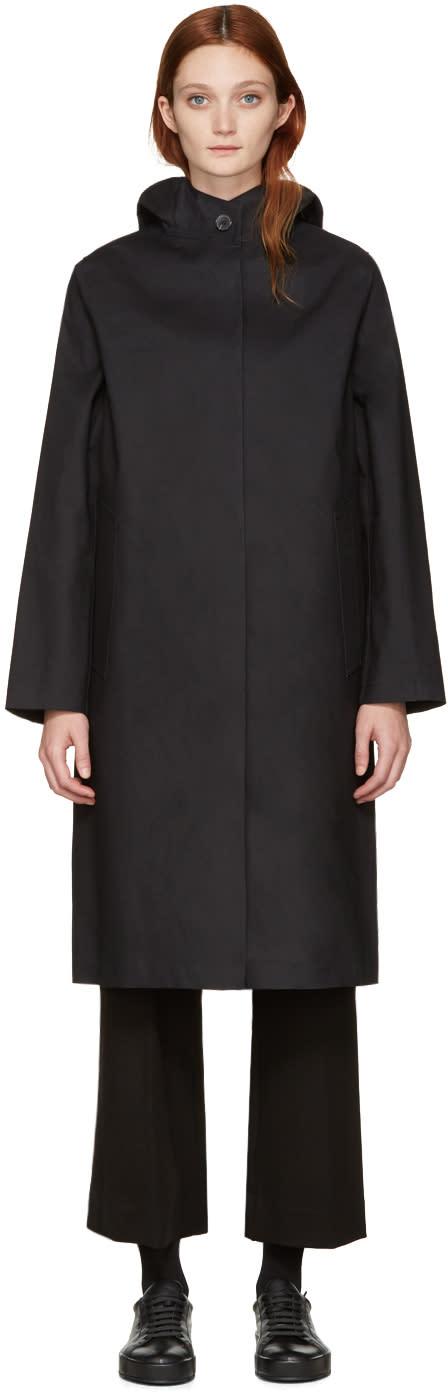 Mackintosh Black Long Hooded Coat