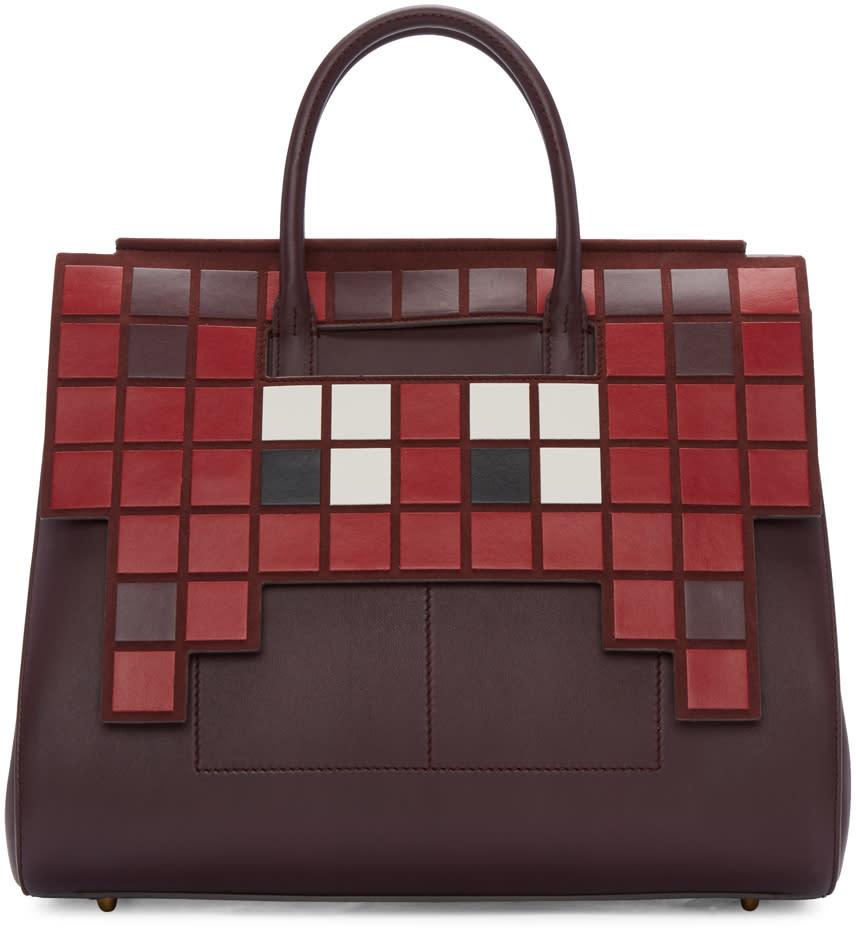 Anya Hindmarch Burgundy Space Invaders Ephson Bag