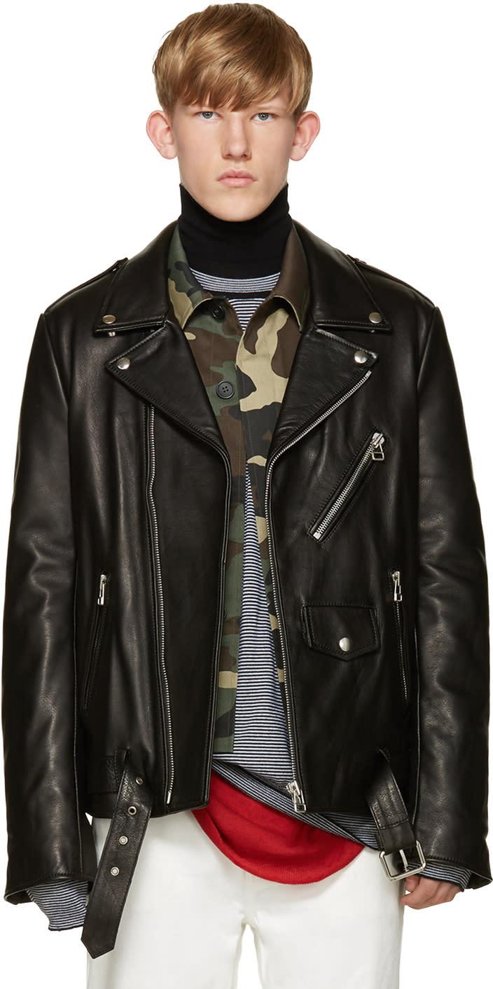 Faith Connexion Black Leather Biker Jacket