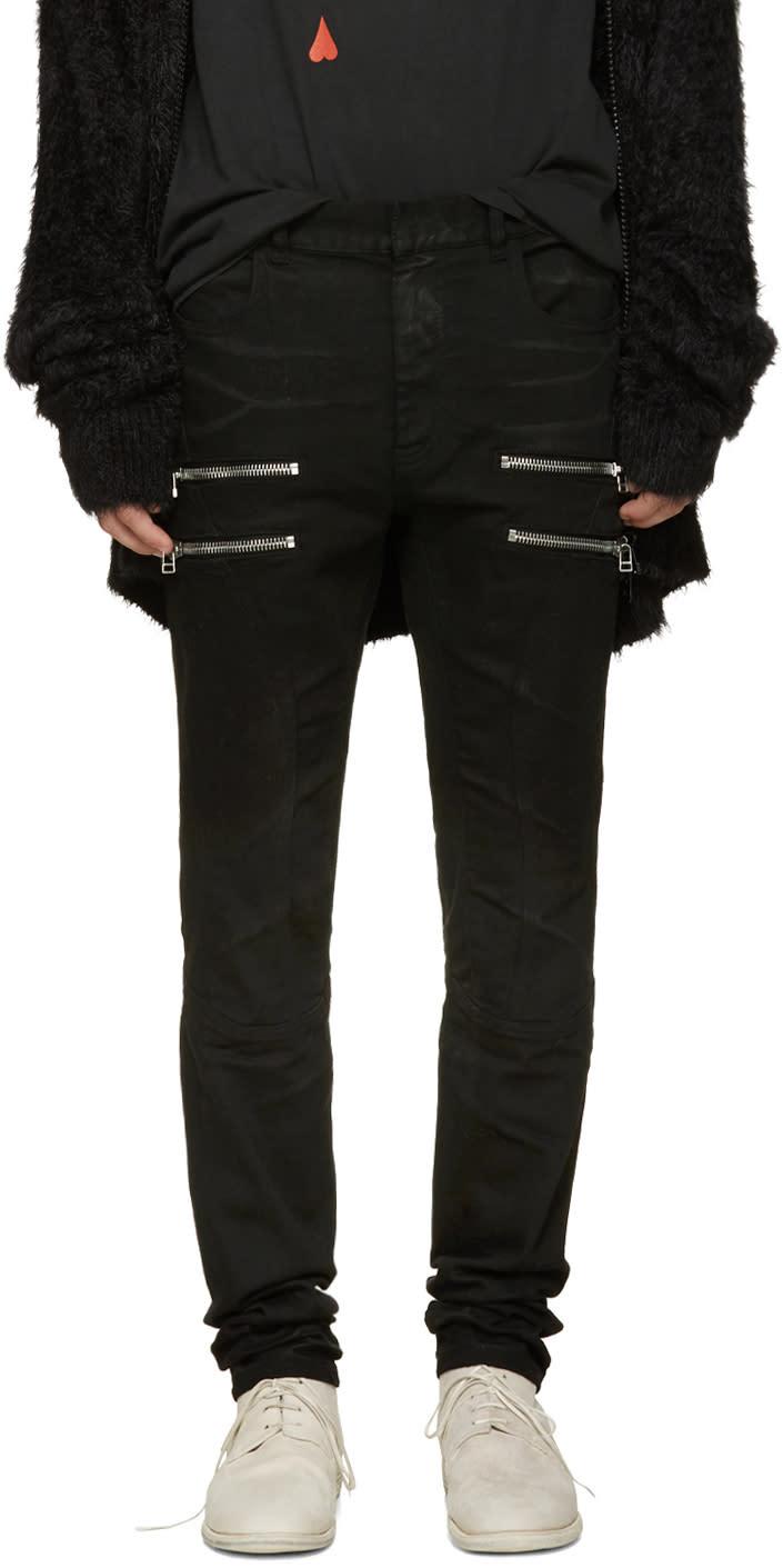 Faith Connexion Black Zip Jeans