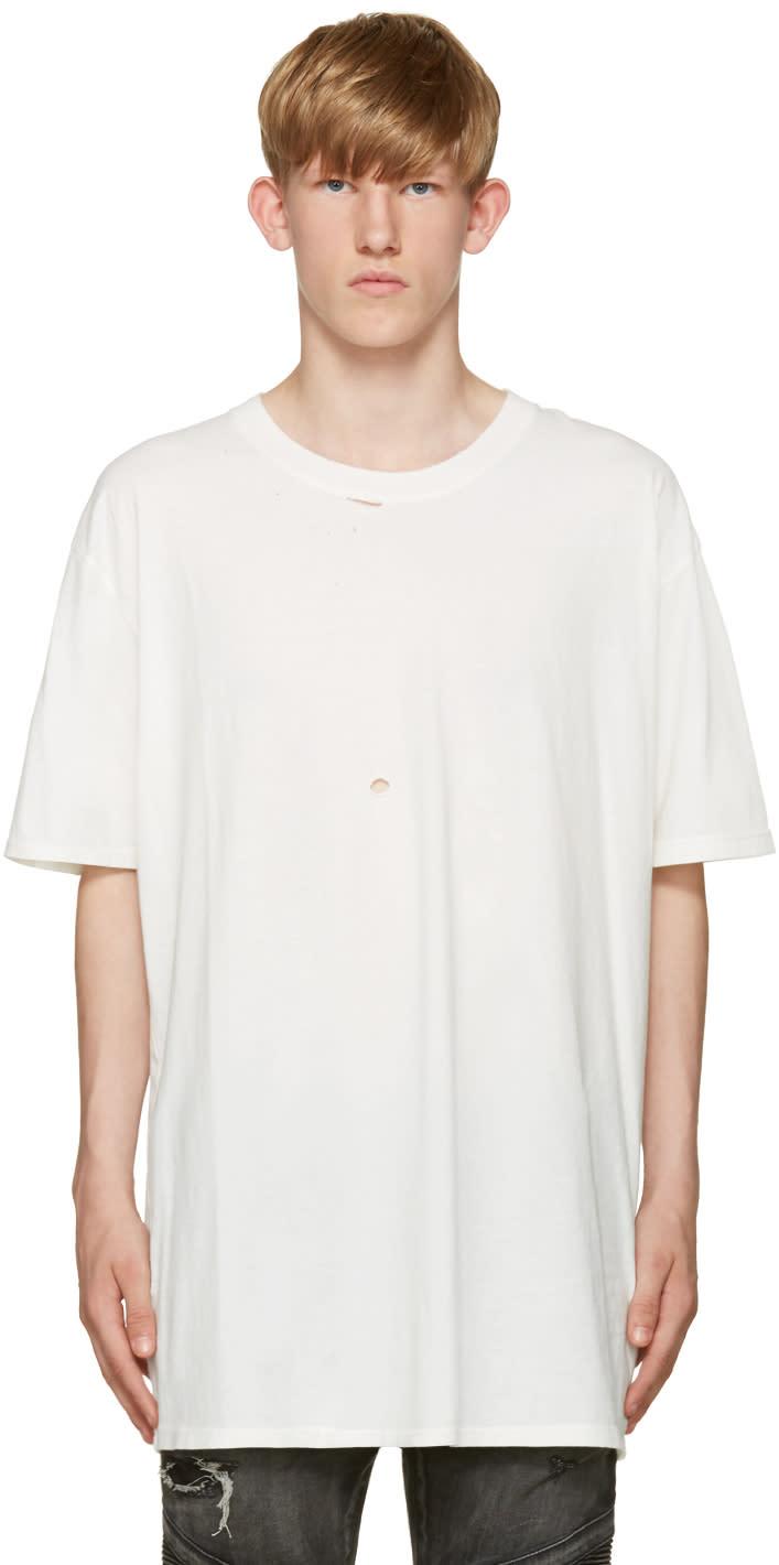 Faith Connexion White Destroyed T-shirt