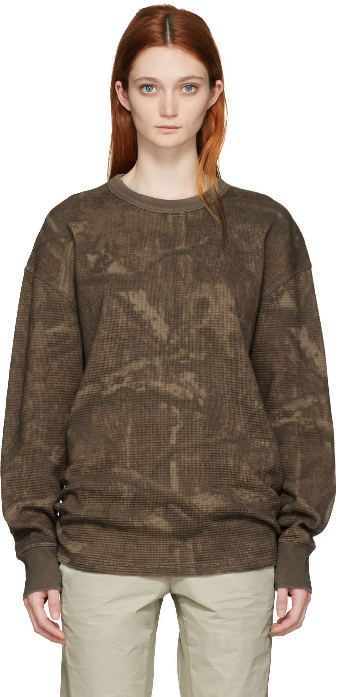 Yeezy Brown Camo Thermal Pullover