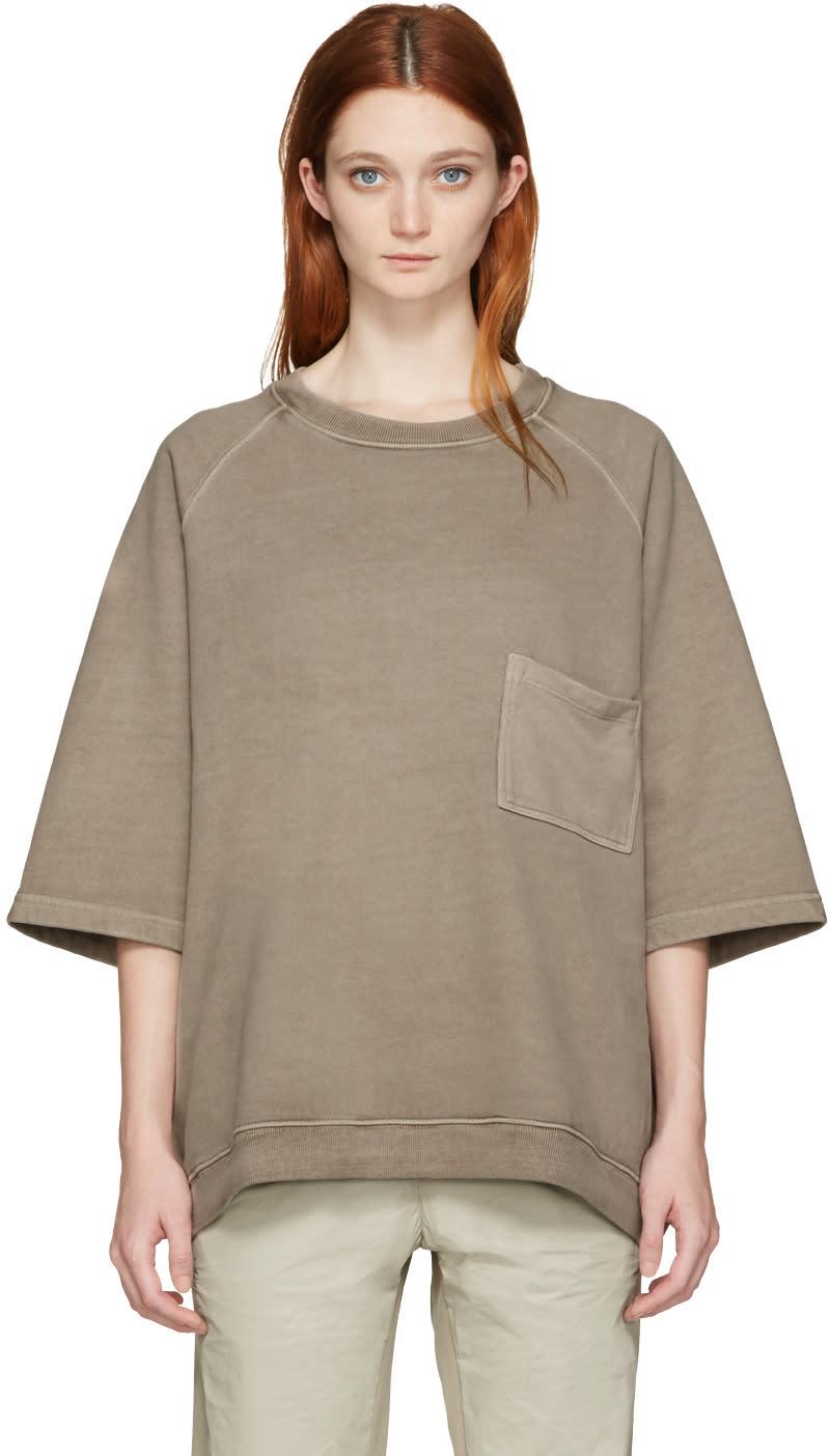 Yeezy Taupe Cropped Sleeve Raglan T-shirt
