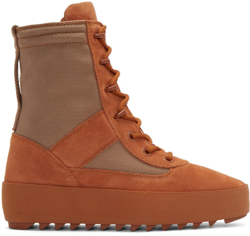 Yeezy Orange Military Boots
