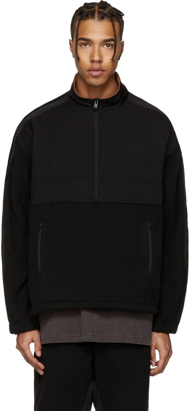 Yeezy Black Nylon and Polar Fleece Jacket