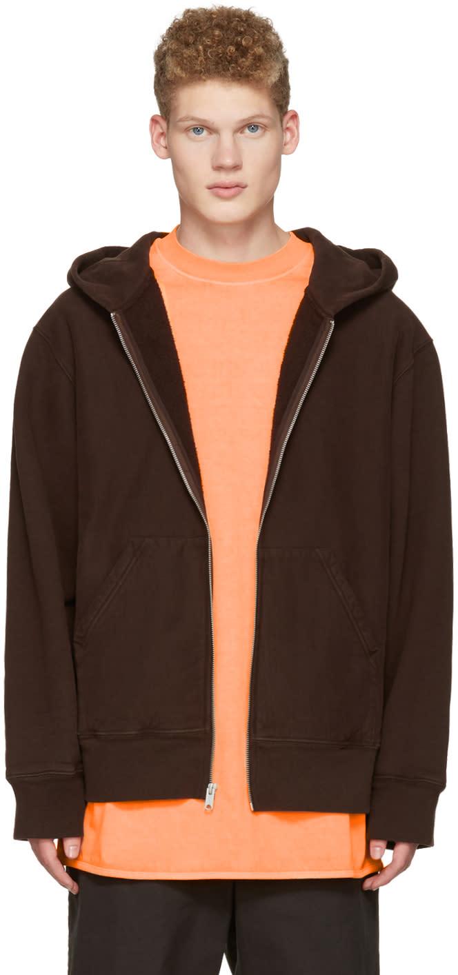 Yeezy Brown Zip-up Hoodie
