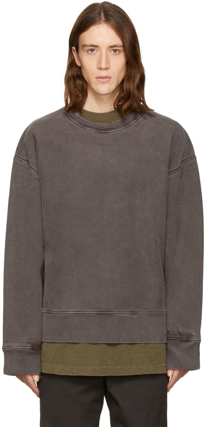Yeezy Grey Crewneck Sweatshirt