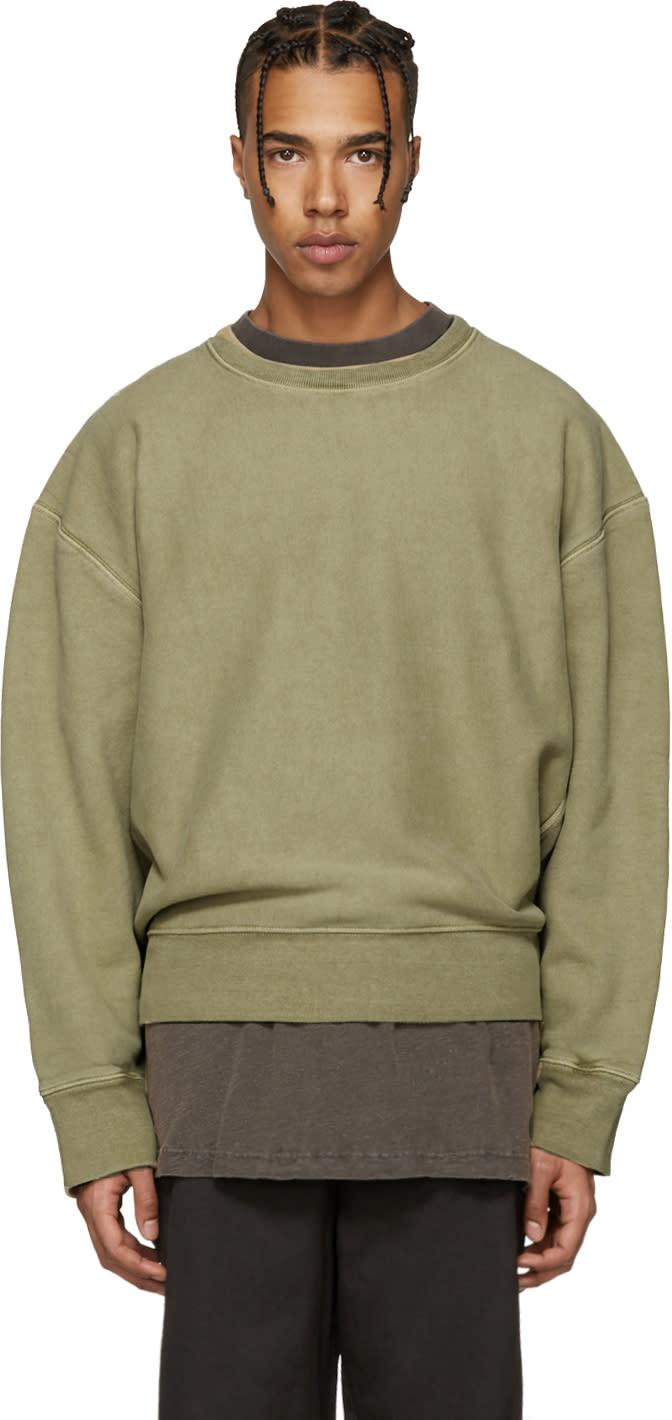 Yeezy Green Crewneck Sweatshirt