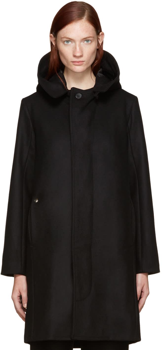 Bless Black Wool Hooded Jacket