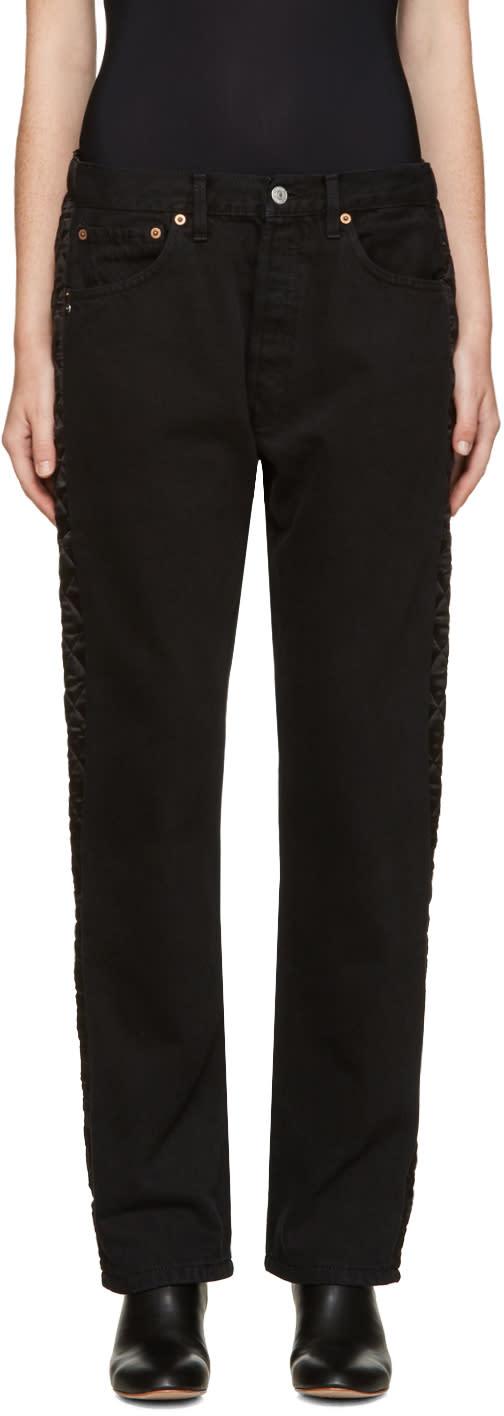 Bless Black Padded Jeans