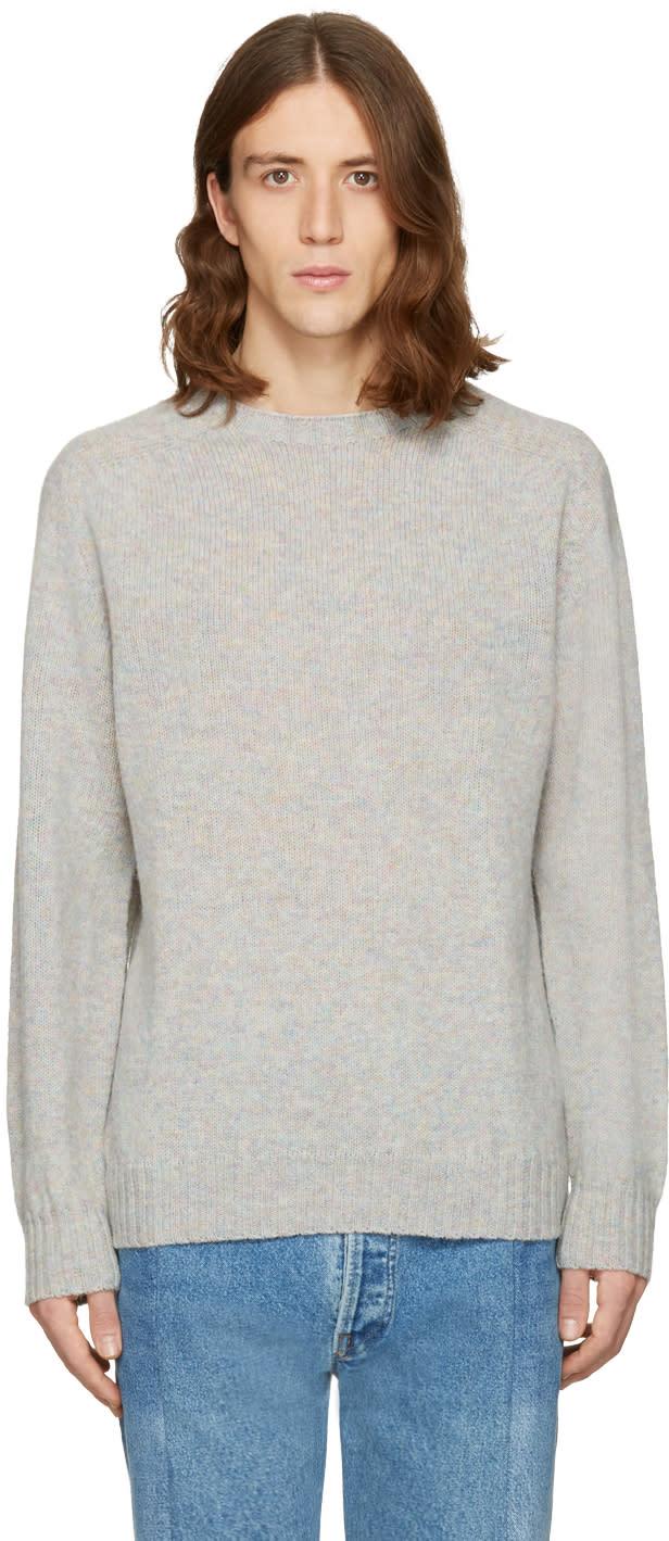 Bless Grey Wool Pearlpad Sweater