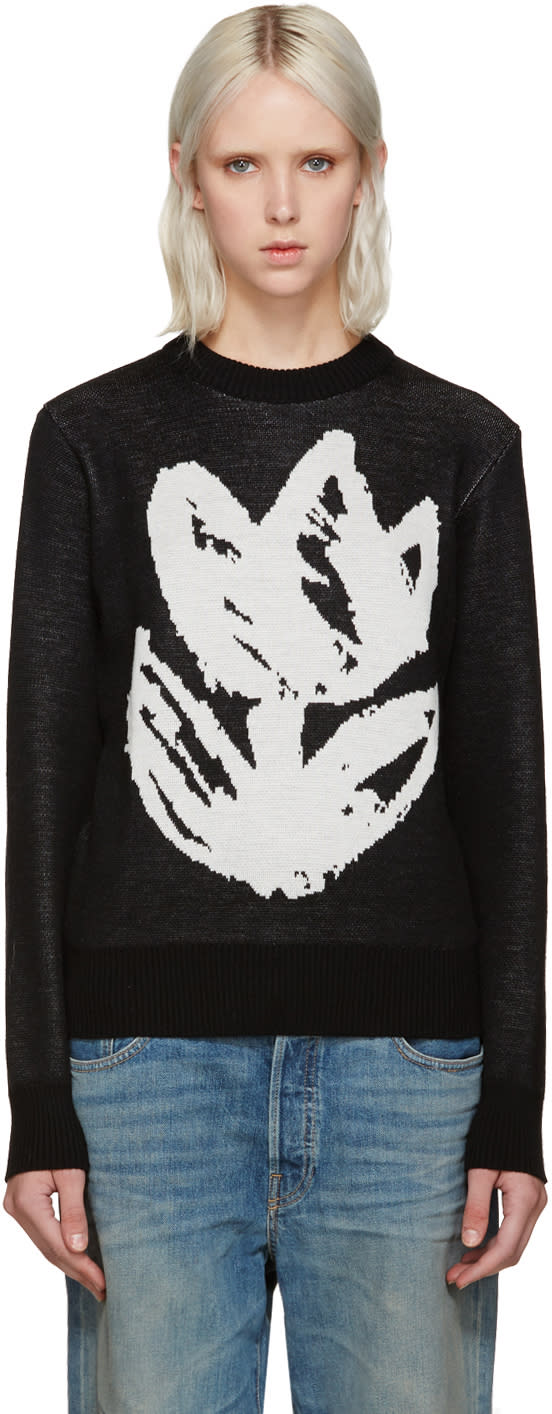 Writtenby Black Tulip Knit Sweater