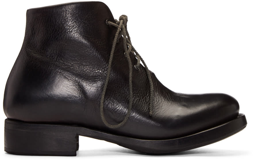 Cherevichkiotvichki Black One-piece Goodyear Boots