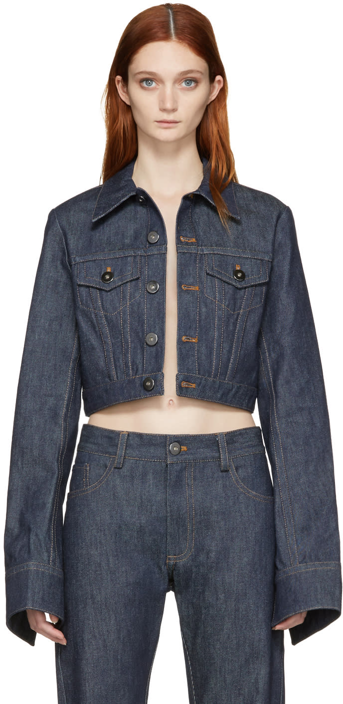 Matthew Adams Dolan Indigo Shrunken Denim Jacket
