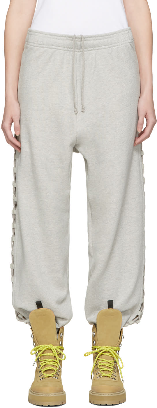 Matthew Adams Dolan Grey Laced Lounge Pants