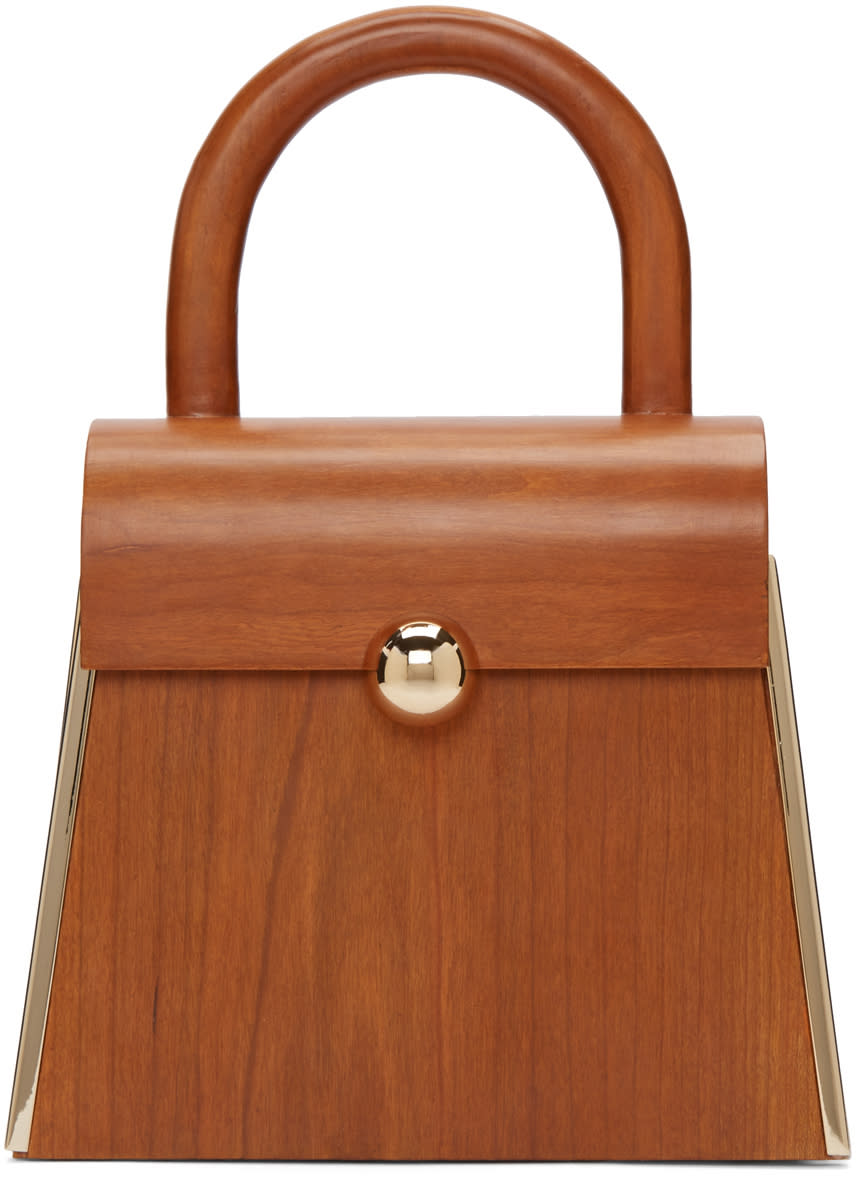 Image of Prim By Michelle Elie Brown Wood Aturo Bag