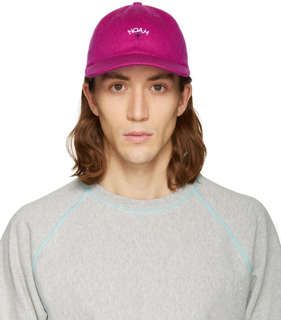 Noah Nyc Pink Logo Cap