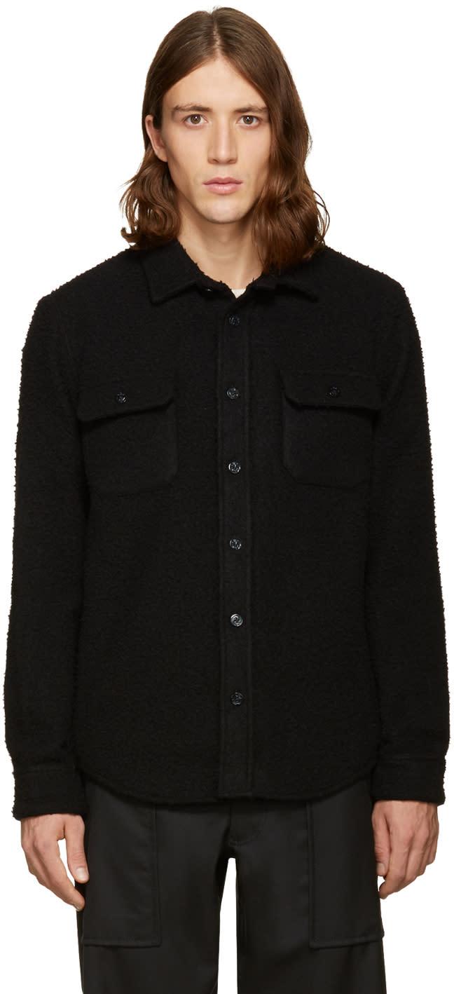 Noah Nyc Ssense Exclusive Black Wool Teddy Shirt