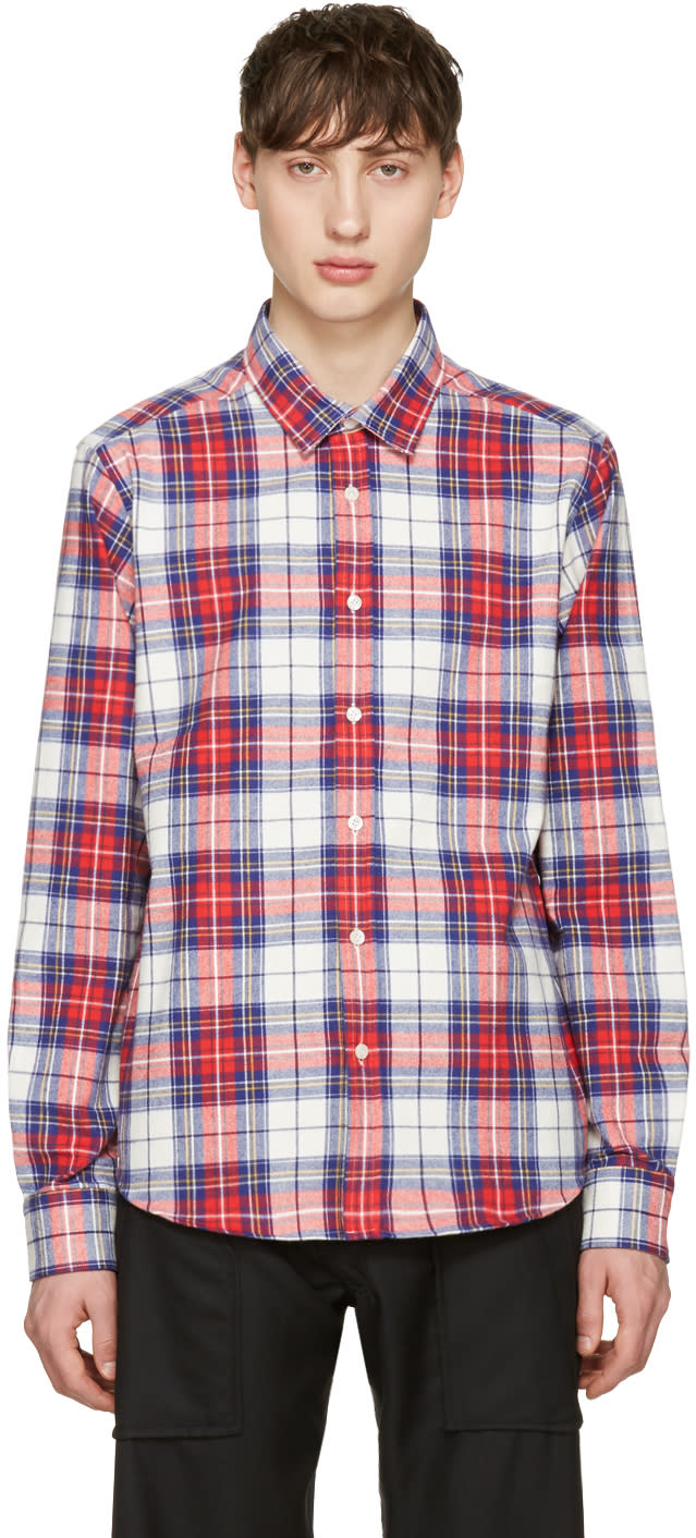 Noah Nyc Red Plaid Pocketed Shirt